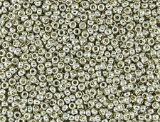 15/0 Japanese Toho Seed Beads Permanent Silver Galvanized #PF558