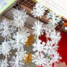 FD2800 Snowflake Ornaments X'Mas Holiday Party Charms Home Tree Decor 10cm ~6PC~