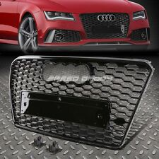 RS STYLE BLACK ABS FRONT BUMPER HONEYCOMB GRILL GUARD FOR 12-14 AUDI A7/S7 MLB