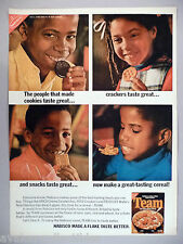 Team Cereal PRINT AD - 1970 ~~ product introduction, black models