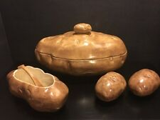 Vintage Atlantic Mold Ceramic Baked / Mashed Potato Set 6 PC - RETRO