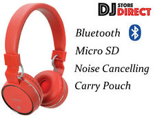 AV-link il rumore Cuffie BLUETOOTH WIRELESS-SD slot-Rosso 100.552