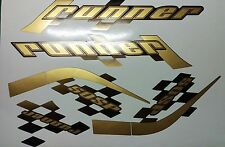 Gilera Runner 50 sp new shape sticker set, black soul, Gold/black Printed Decals