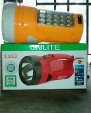 ONLITE 5W RECHARGEABLE TORCH with 15 SMD NIGHT LIGHT 150 mtr Range