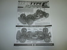Tamiya 1/10 TT01 Type-E Chassis 4WD Instruction Manual Book ONLY OZ RC Models