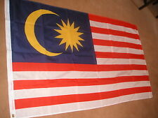 MALAYSIA FLAG  5'X3' BRAND NEW POLYESTER POST FREE IN UK