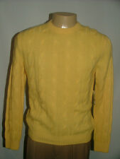 NEW WT $298 SAKS FIFTH AVENUE CREWNECK SWEATER SIZE M 100%CASHMERE CABLEKNIT #85