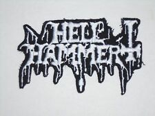 HELLHAMMER IRON ON EMBROIDERED PATCH