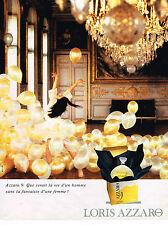 PUBLICITE ADVERTISING 025  1993  LORIS AZZARO  le nouveau parfum femme 9