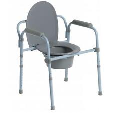 Drive Medical Folding Steel Commode RTL11158KDR Potty Chair *Free Shipping* NEW