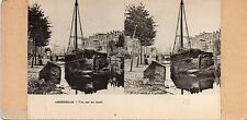 STC443 Amsterdam vue canal Moulin Bateau Hélio stereoview photo STEREO Vintage