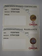 Omega QUADRA CONSTELLATION Watch Int'l Warranty Card Stones Certificate 15287600