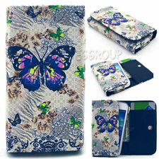 Universal PU Leather Flip Wallet Card Case Cover Slot For Various Mobile Phones