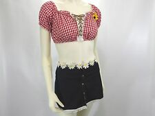 "SEXY Daisy ""MAY"" Costume Shirley of Hollywood Sz S/M 3pc Bloomers Skirt Crop Top"