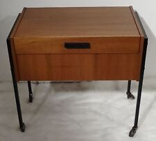 Mid CENTURY Danish Design 60's nussholz costurero nähschrank-sewing Table 60er