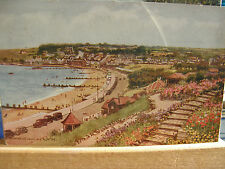 Postcard, Swanage from the North, 1953, Salmon
