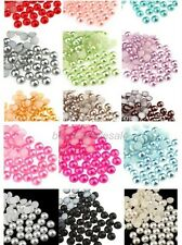 1000 HALF ROUND PEARLS - FLAT BACK - HIGH QUALITY - CRAFTS - 5MM, 6MM, 7MM, 8MM