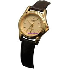 Casio Women's Brown Leather Dress Watch LTP1096Q-9A
