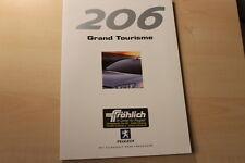 66655) Peugeot 206 Gran Tourisme GT Prospekt 08/1999