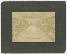 OCCUPATIONAL STORE OWNER SITTING AT COUNTER VINTAGE PHOTO