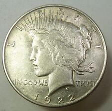1922-P VAM 1A LINE IN TIARA Silver Liberty PEACE Dollar $1 US Coin Item #11201