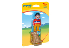 9256 playmobil 1 2 3 Homme avec Chien pour enfants à partir de 1½ Ans/18 Monate