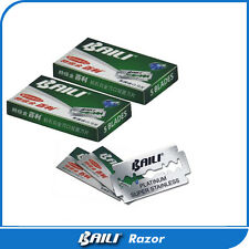 10 Baili Super Stainless Platinum Double Edge Sharp Smooth Shaving Razor Blades