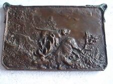 ANTIQUE COPPER HUNTING PLAQUE 1905 VIENNA TROPHY EXHIPIT