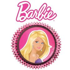 50 WILTON BIRTHDAY PARTY CUPCAKE LINERS BAKING CUPS BARBIE GIRL DOLL 50