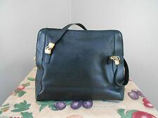 Paola Del Lungo - Womens Black Leather Handbag - Made in Italy