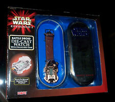 STAR WARS RARE!!  BATTLE DROID WATCH & METAL CASE! NEVER OPENED! NEW IN BOX!!!
