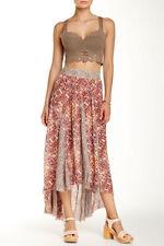 NWT Free People Sz M Sand Color Hi-Lo Hem Skirt 128 #3760