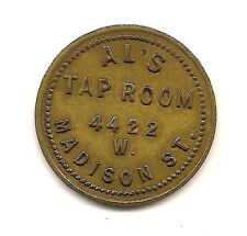 "Al's Tap Room ""Good For 10 Cent"" Token--Vacketta # AB21-5--- R-4 !!"