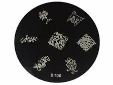NAIL Art Stamping Immagine PIASTRE Carino Pattern piastre in acciaio inox b109