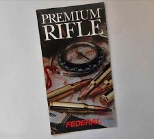 Premium Federal Ammunition Rifle Ballistics Flyer Brochure 1992