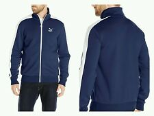 NWT PUMA Mens Jacket Training Track Running Warmup T7 Blue/White Peacoat XL $65