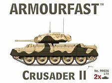 Crusader Mk. II (x2) 1/72 Kit De Plástico Tanque Hät Armourfast 99026 Libre Post