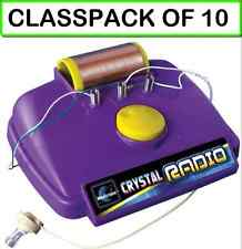 (CLASSPACK OF 10) ELENCO MX-901C CRYSTAL RADIO KIT
