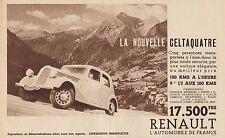 Y7116 La Nouvelle Celtaquatre RENAULT - Pubblicità d'epoca - 1935 Old advert