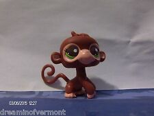 Littlest Pet Shop Mommy & Baby Brown Monkey with Green Eyes #2670
