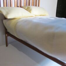 Dollhouse miniature double bed with mattress ~ made from walnut ~ 1/12th scale