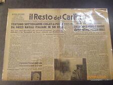 IL RESTO DEL CARLINO - QUOTIDIANO - 18 MARZO 1943