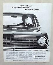 E363-Advertising Pubblicità-1965 - OPEL REKORD