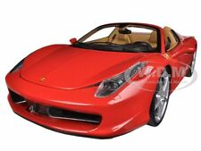FERRARI 458 SPIDER F1 RED ELITE EDITION 1/18 DIECAST MODEL CAR HOTWHEELS BCJ89