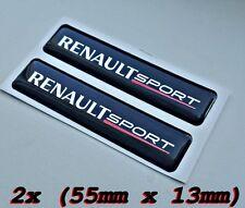 2x Renault Sport 3D  Logo Symbol Aufkleber für Innen oder
