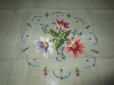 """Jolles PRE-WORKED Needlepoint FLORAL Canvas  - 27"""" x 27"""" - Austria - 1 of 2"""