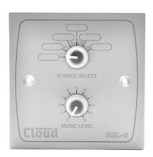RSL-6W Cloud Wallplate, Source Level Control, White