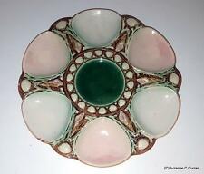 Antique Majolica Shell & Seaweed Oyster Plate