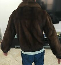 MENS NATURAL DEMI-BUFF RANCH MINK REVERSABLE KID LEATHER NEIMAN MARCUS M JACKET