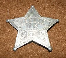 "Deputy U.S. MARSHAL 2-5/8"" Obsolete Antique Star Badge ESTATE FIND NICE SHAPE"